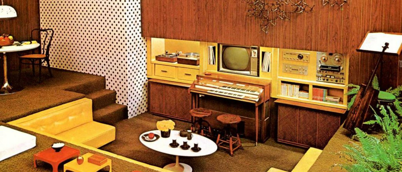 Retro decor and home improvements from the 1970s for 70 s room design