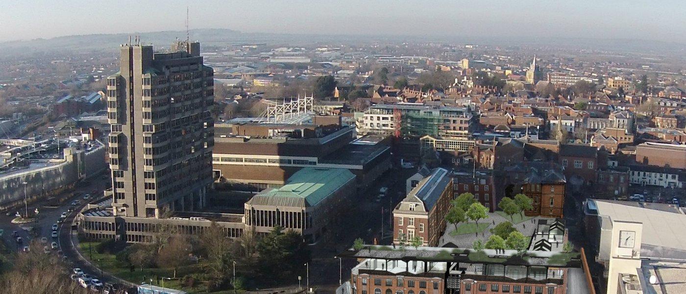 Aerial view Aylesbury