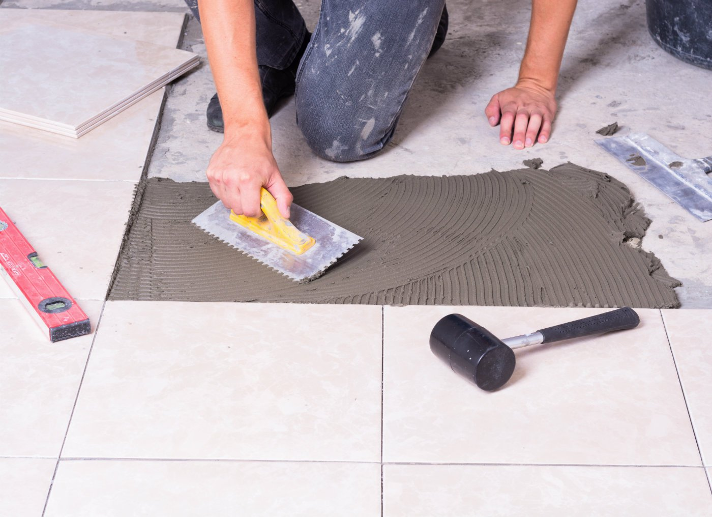 How to tile a floor floor tilingg dailygadgetfo Gallery