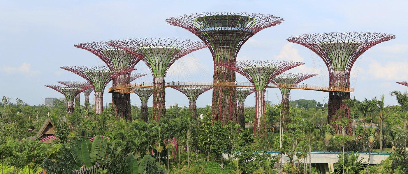 Futuristic buildings