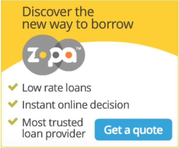 Zopa banner